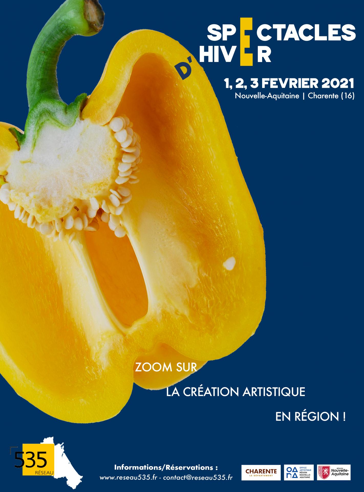 Affiche Spectacles d'Hiver 2021